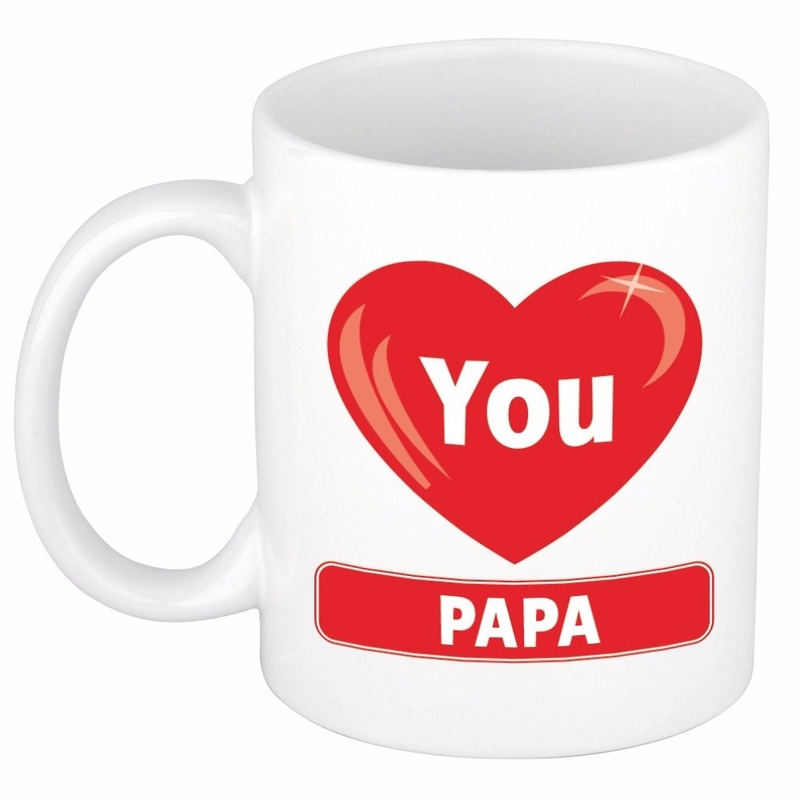 Hartje I love you Papa mok - beker 300 ml
