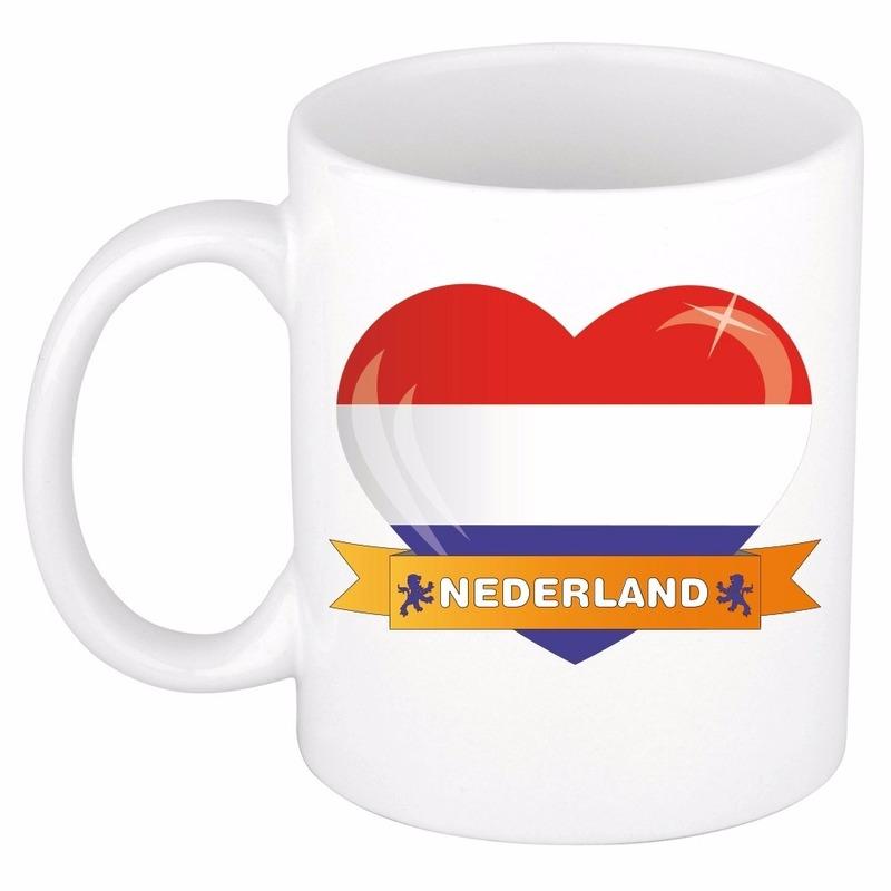 Hartje Nederland mok - beker 300 ml