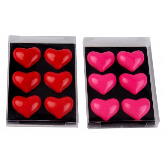 Hartjes magneten 6 stuks