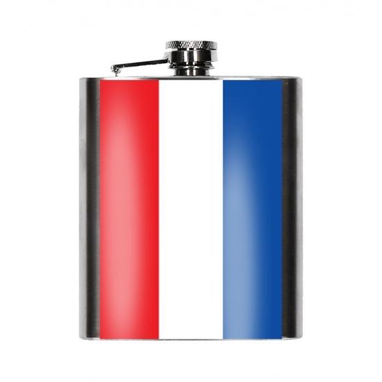 Heupfles Nederlandse vlag 200 ml