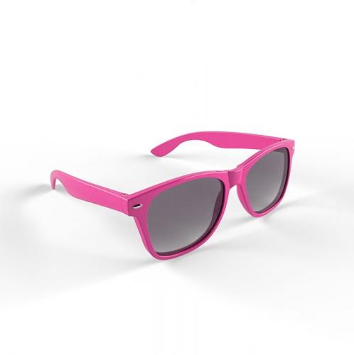 Hippe zonnebril met roze montuur