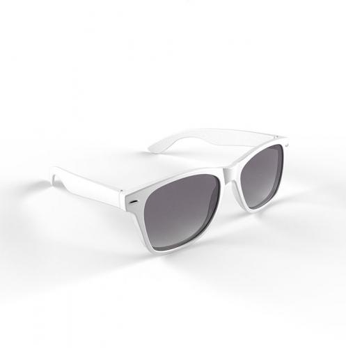 Hippe zonnebril met wit montuur