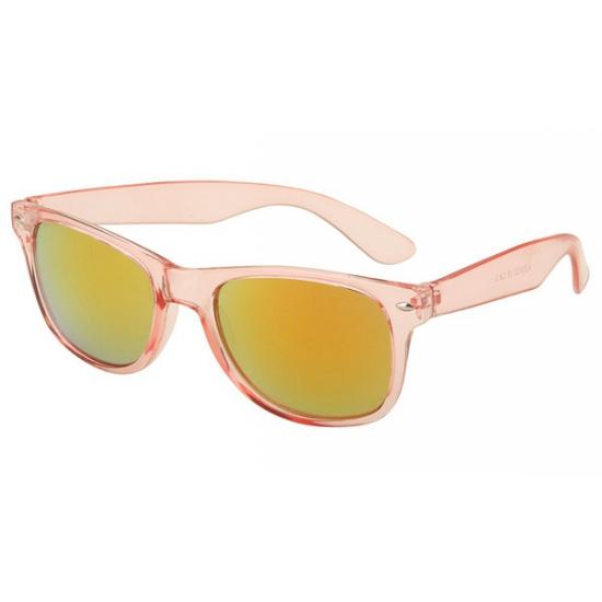 Hippe zonnebril roze met transparant montuur
