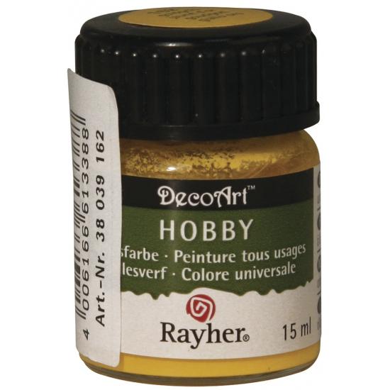 Hobby alles verf goudgeel 15 ml