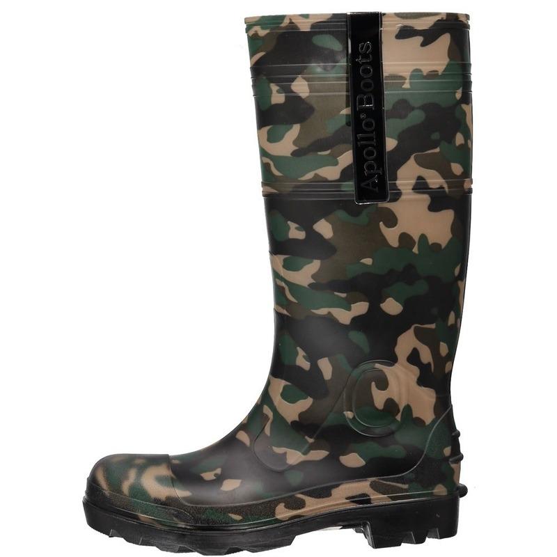 Hoge heren regenlaarzen camouflage print