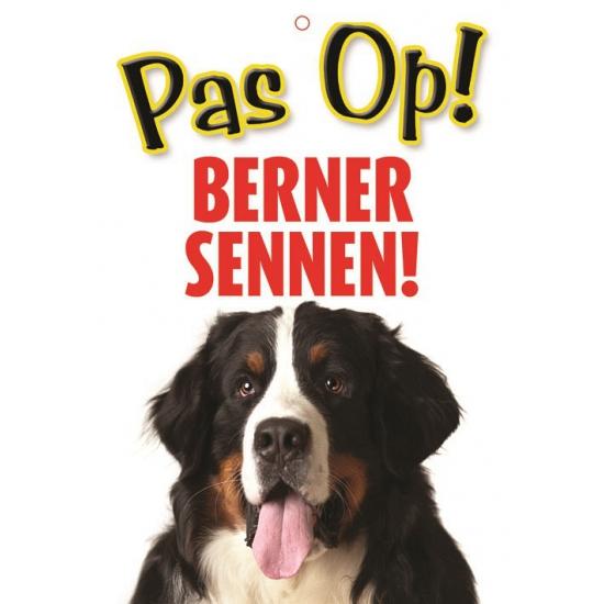 Honden waakbord pas op Berner Sennen 21 x 15 cm