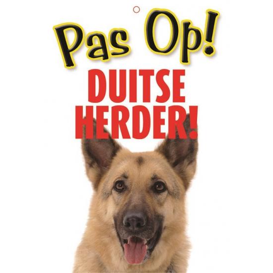 Honden waakbord pas op Duitse Herder 21 x 15 cm