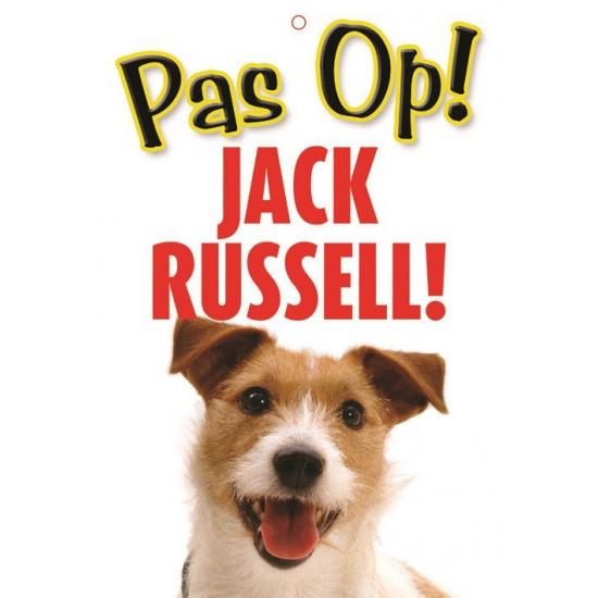 Honden waakbord pas op Jack Russell 21 x 15 cm
