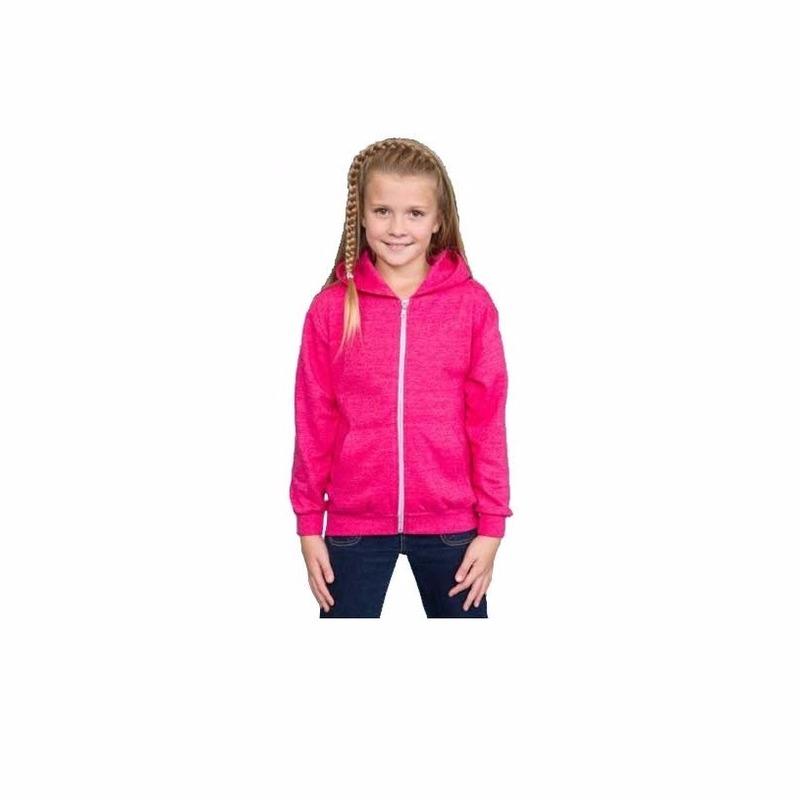 Hooded sweater roze voor meisjes