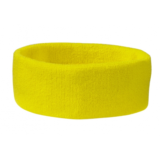 Hoofd zweetband geel