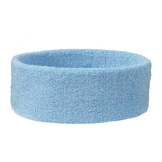 Hoofd zweetband lichtblauw