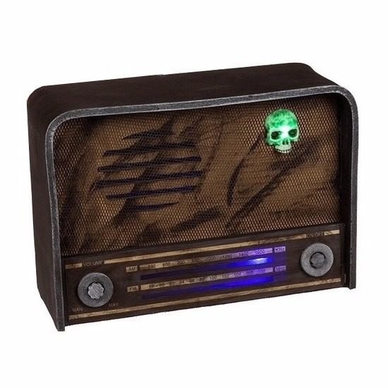 Horror radio decoratie met licht en geluid