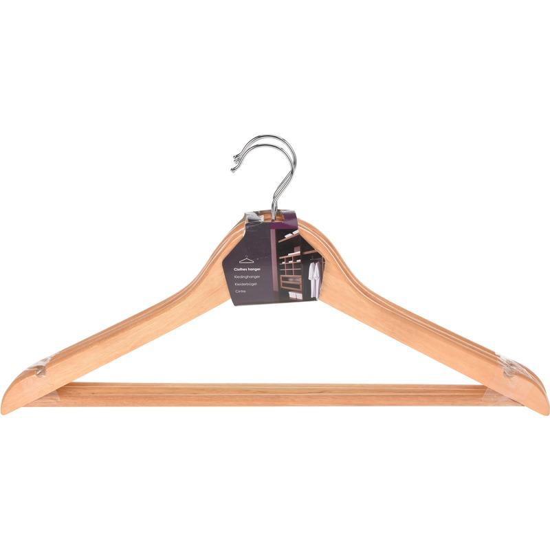 Houten kledinghangers 3 stuks