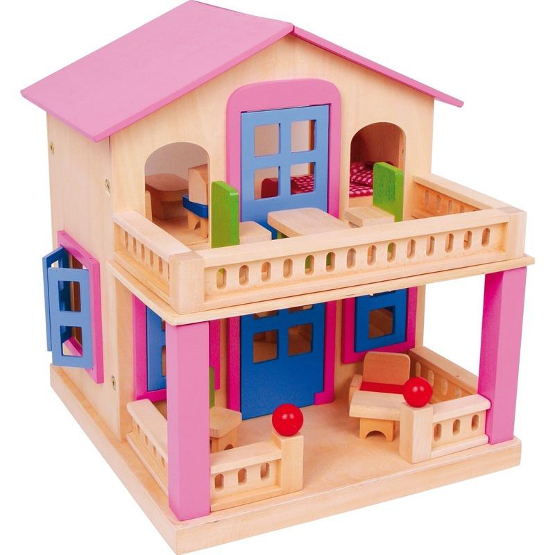 Houten poppenhuis Clara