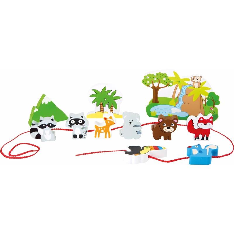 Houten safari speelgoed set 12-delig