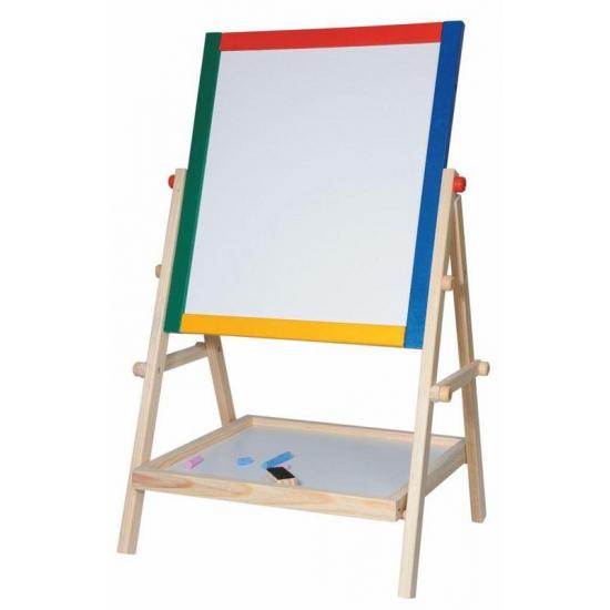 Houten schoolbord staand