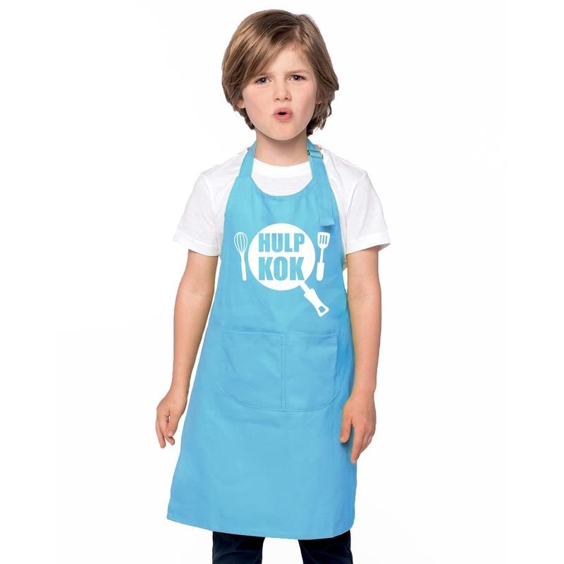 Hulpkok keukenschort blauw kinderen