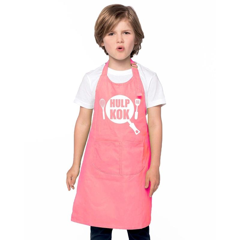 Hulpkok keukenschort roze kinderen