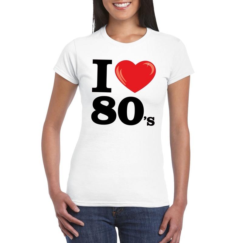 I love eighties t-shirt wit dames
