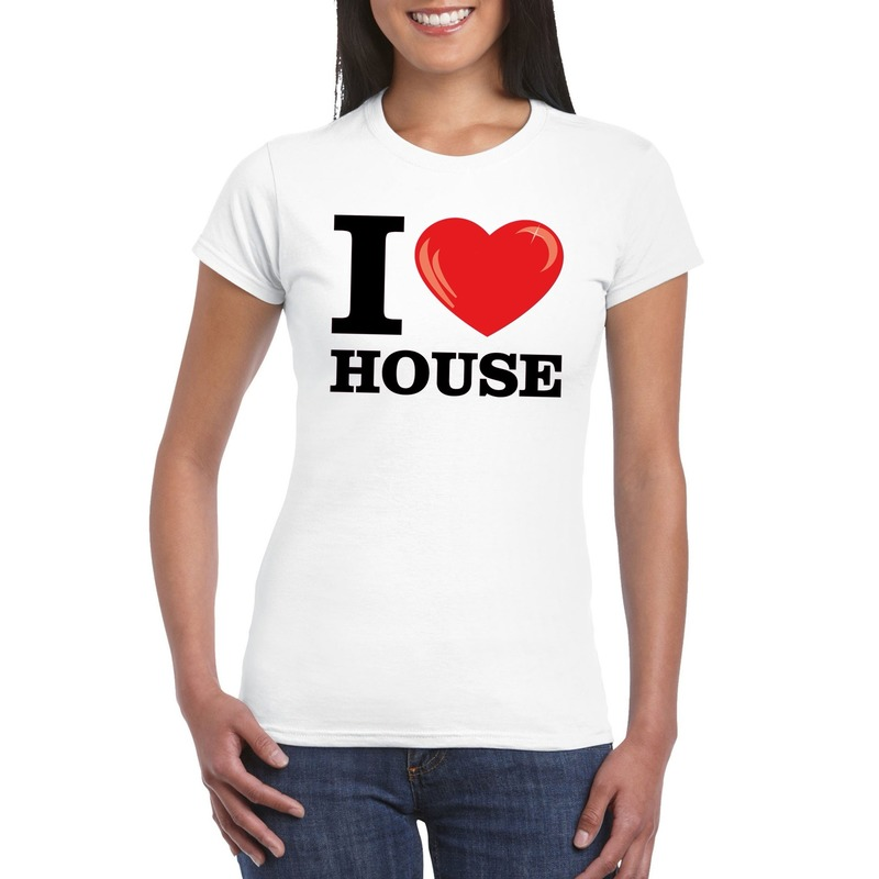 I love house t-shirt wit dames