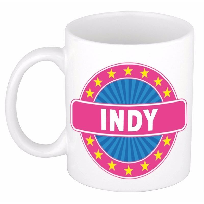 Indy naam koffie mok-beker 300 ml