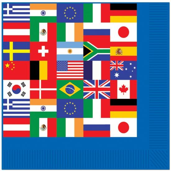 Internationale servetten 16 stuks