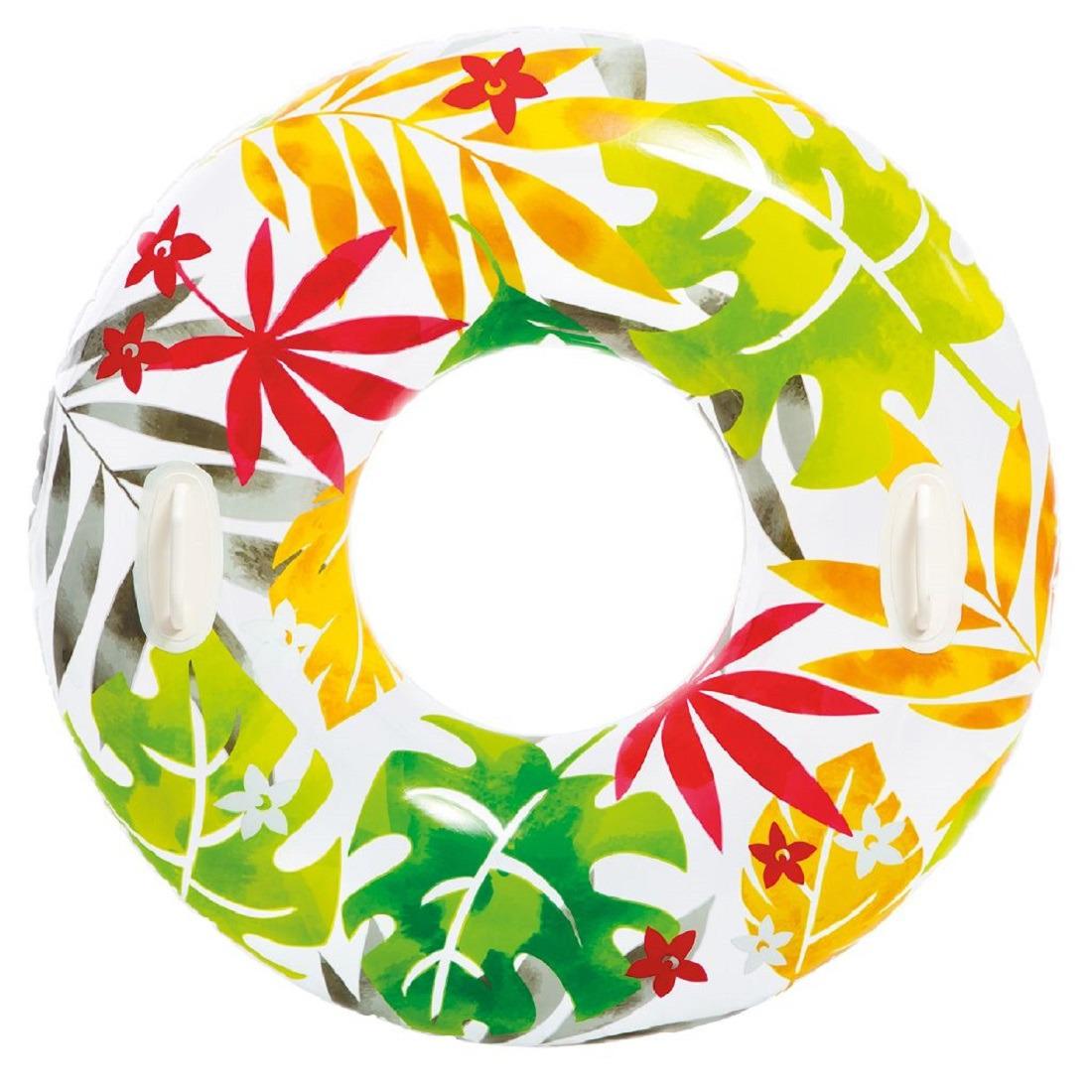 Intex zwemband wit met bladeren 97 cm