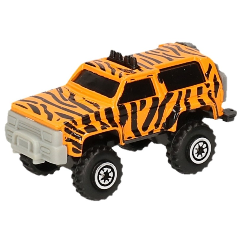 Jeep safari speelgoedauto giraf print 7 cm