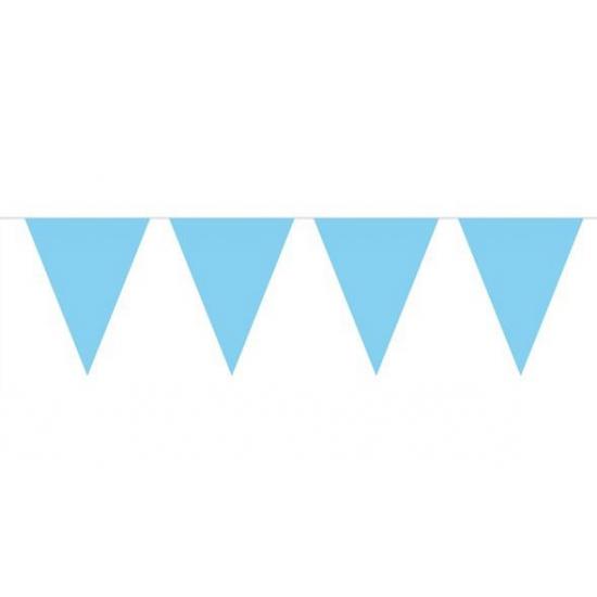 Jongen geboren vlaggenlijn babyblauw 10m