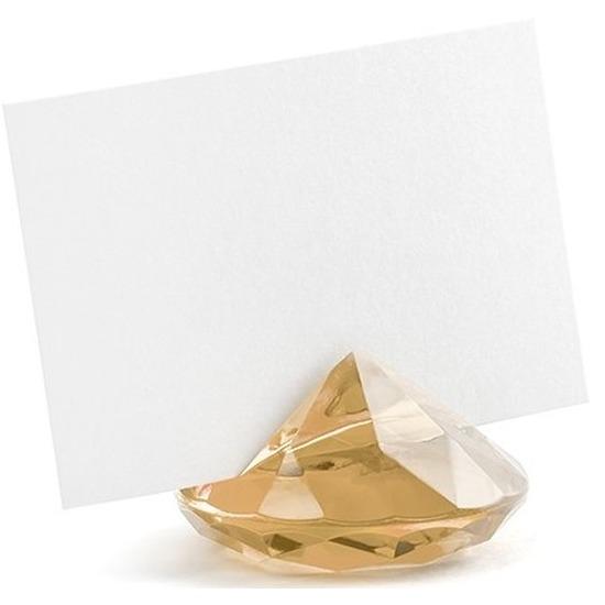 Kaarthouder standaard gouden diamant 10x