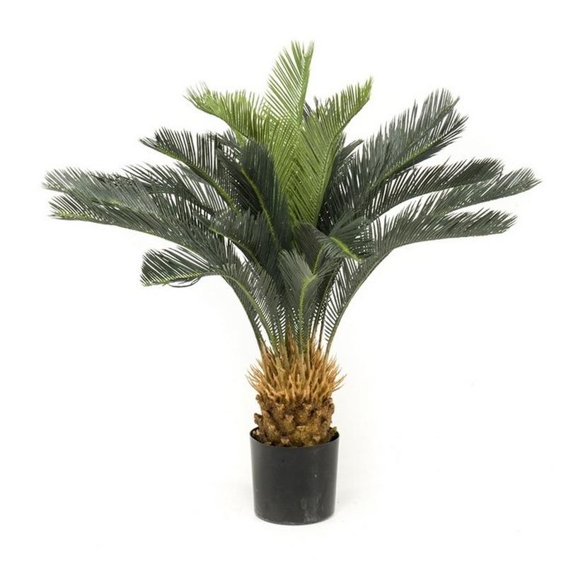 Kantoor kunstplant groene Cycas revoluta/vredespalm 90 cm in pot