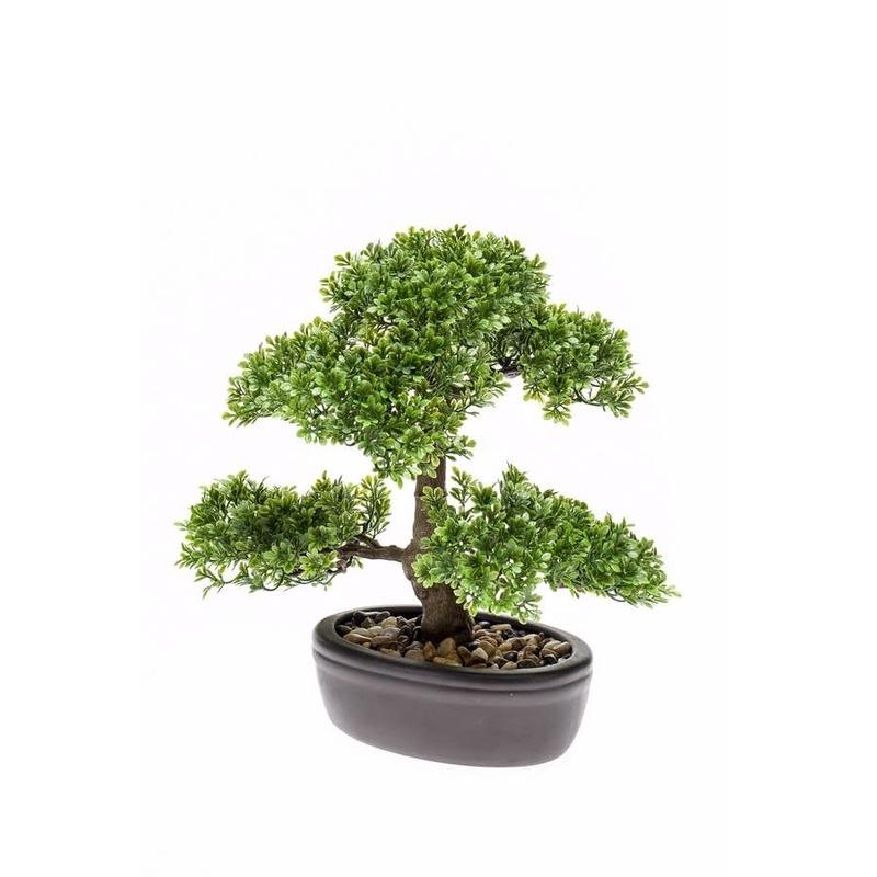 Kantoor kunstplant mini Bonsai boompje in pot 32 cm