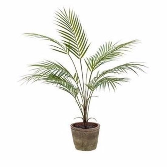 Kantoor kunstplant palmboom 70 cm groen in pot