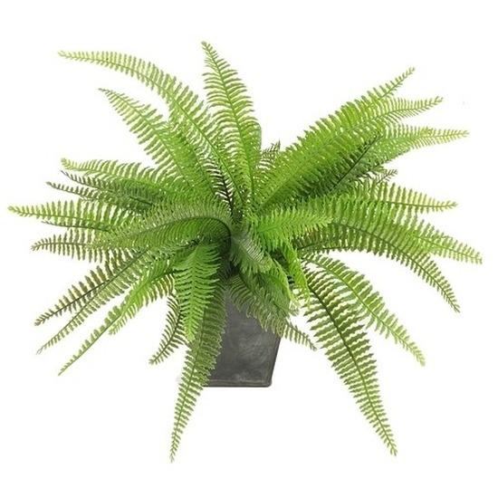 Kantoor kunstplant varen 33 cm groen in pot