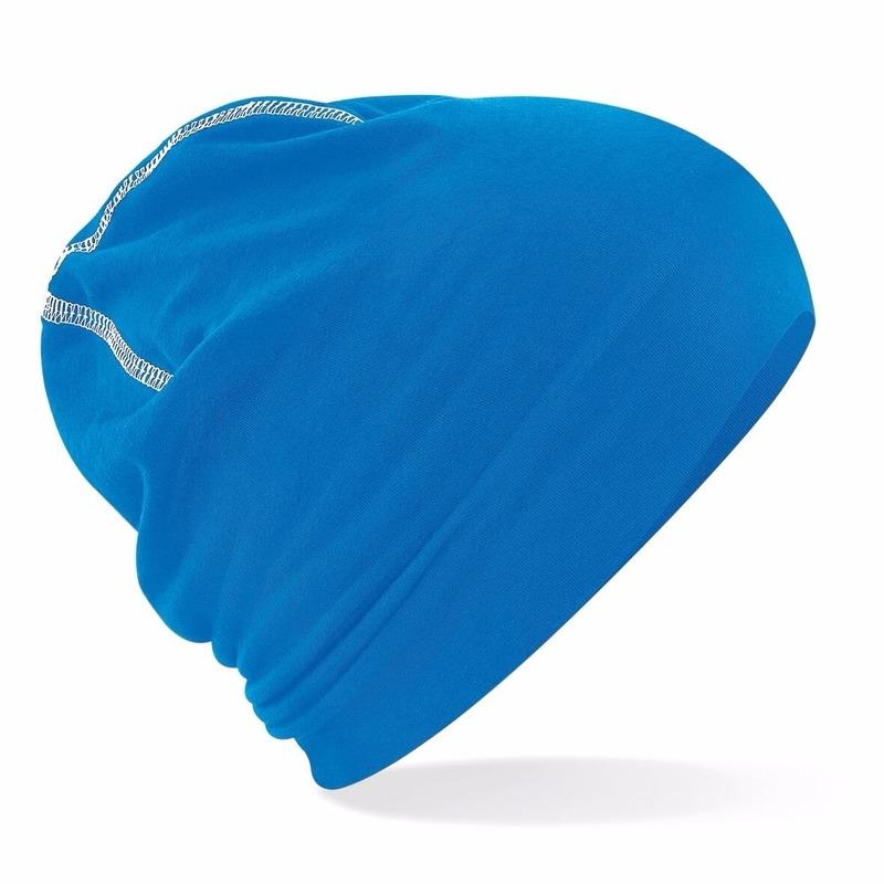 Katoenen muts blauw voor heren