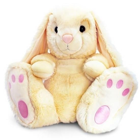 Keel Toys pluche konijn knuffel beige 25 cm