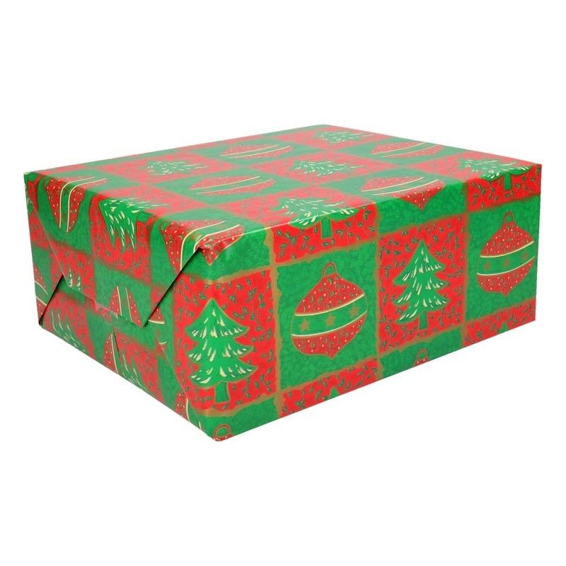 Kerst inpakpapier 200 x 70 cm op rol print 15