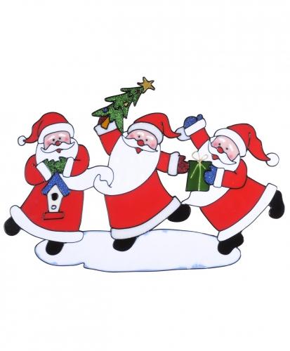 Kerst raamstickers/raamdecoratie kerstman plaatjes 40 x 27 cm