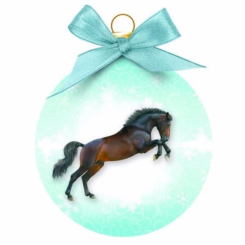 Kerstboom decoratie kerstbal paard 8 cm