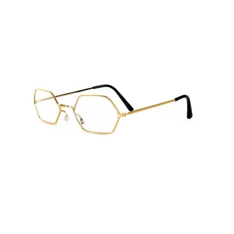 Kerstman verkleed bril goud