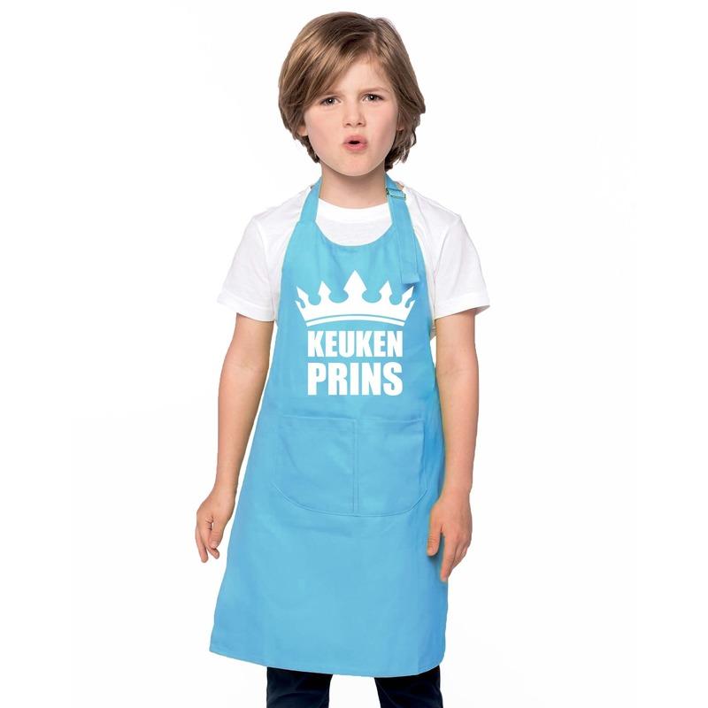 Keukenprins keukenschort blauw jongens