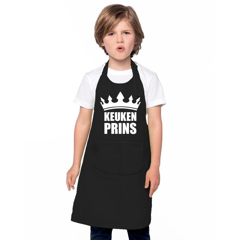 Keukenprins keukenschort zwart jongens