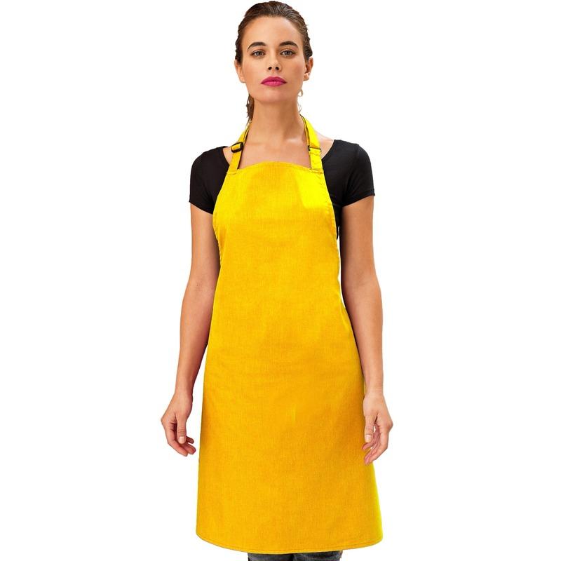 Keukenschort geel voor volwassenen