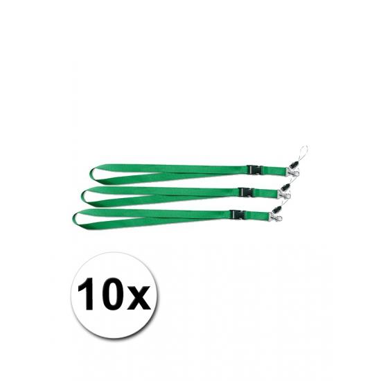 Keycords groen 10 stuks
