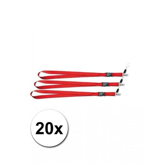Keycords rood 20 stuks
