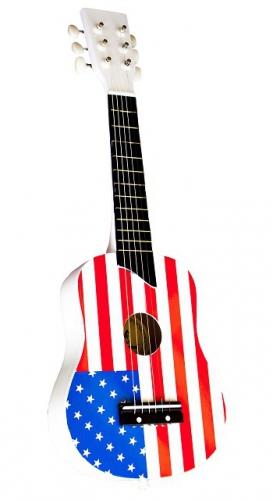 Kinder gitaar met Amerikaanse vlag