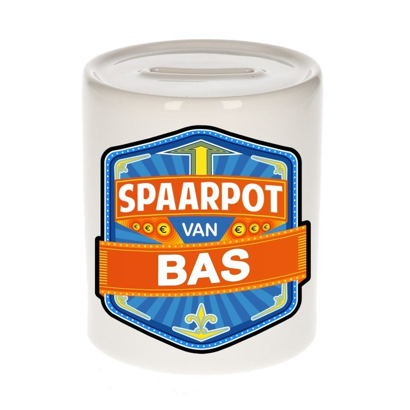 Kinder spaarpot voor Bas