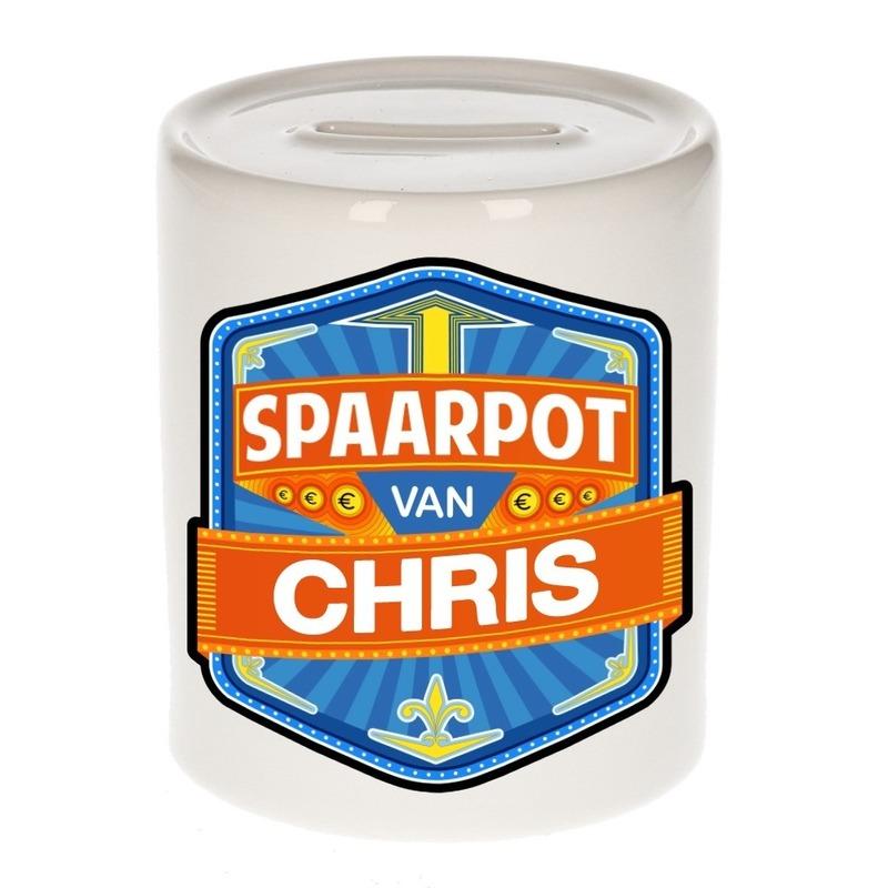 Kinder spaarpot voor Chris