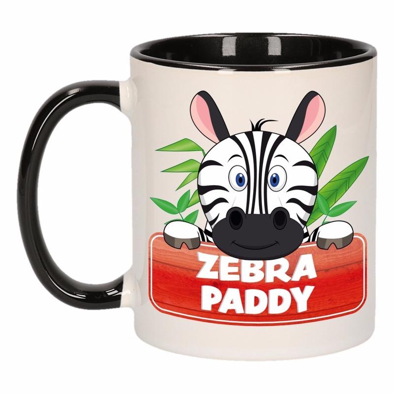 Kinder Zebra Mok / Beker Zebra Paddy Zwart / Wit 300 Ml