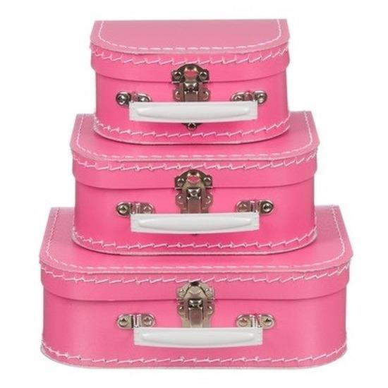 Kinderkoffertje roze 25 cm